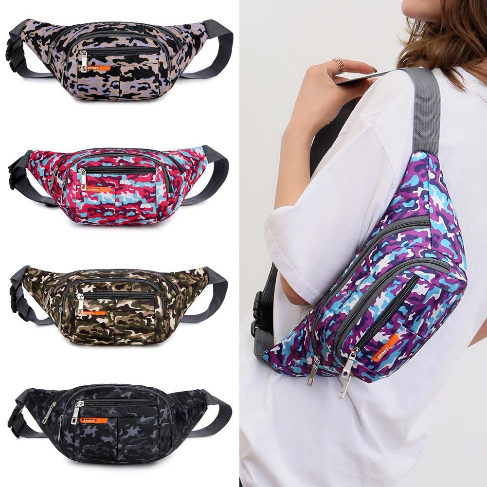 Túi đeo chéo ngang hông/trước ngực in họa tiết rằn ri phong cách thể thao thời trang cho nam nữ