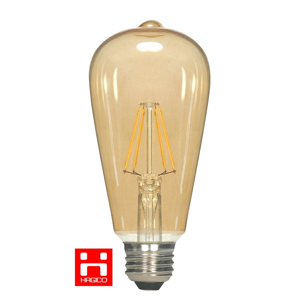 Bóng đèn LED Edison ST64 vỏ vàng nắng vỏ trắng dùng dimmer led 4W 6W