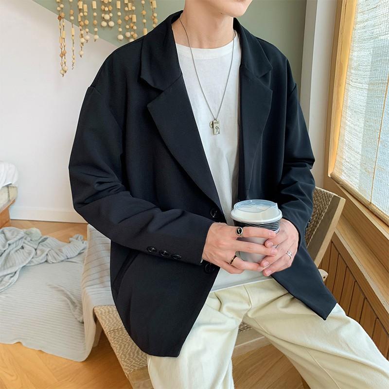 [Ảnh Thật ] Áo blazer nam Áo Vest Nam form rộng BZ01 Hàn Quốc Thời Trang Leafa