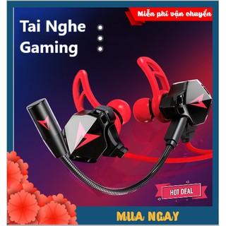 Tai Nghe Gaming 2021 Chống Ồn Cao Cấp GH5 Gamer Pro Phiên Bản Nâng Cấp sendem S2 , Tặng Bộ Phụ Kiện Mic Rời