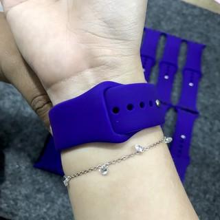 Dây đeo cao su Apple Watch màu xanh tím size 38/40 42/44mm