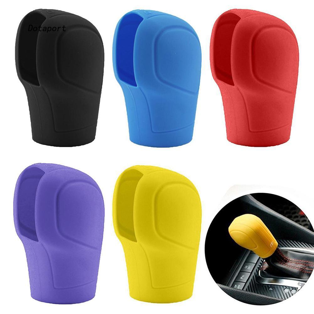DTPT_1Pc Auto Car Silicone Gear Head Shift Knob Cover Handbrake Grip Interior Decor