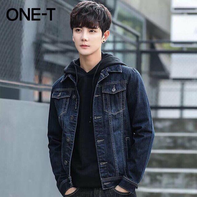 [FreeShip > 250k] Áo khoác jeans nam dài tay cổ bẻ siêu chất Hàn Quốc | Áo khoát jean nam thời trang sành điệu mẫu mới - Áo khoác jeans