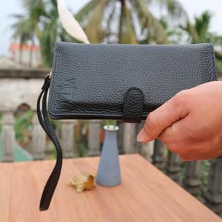 ví cầm tay nữ Ariza da bò thật 100% có quai bảo hành 12 tháng