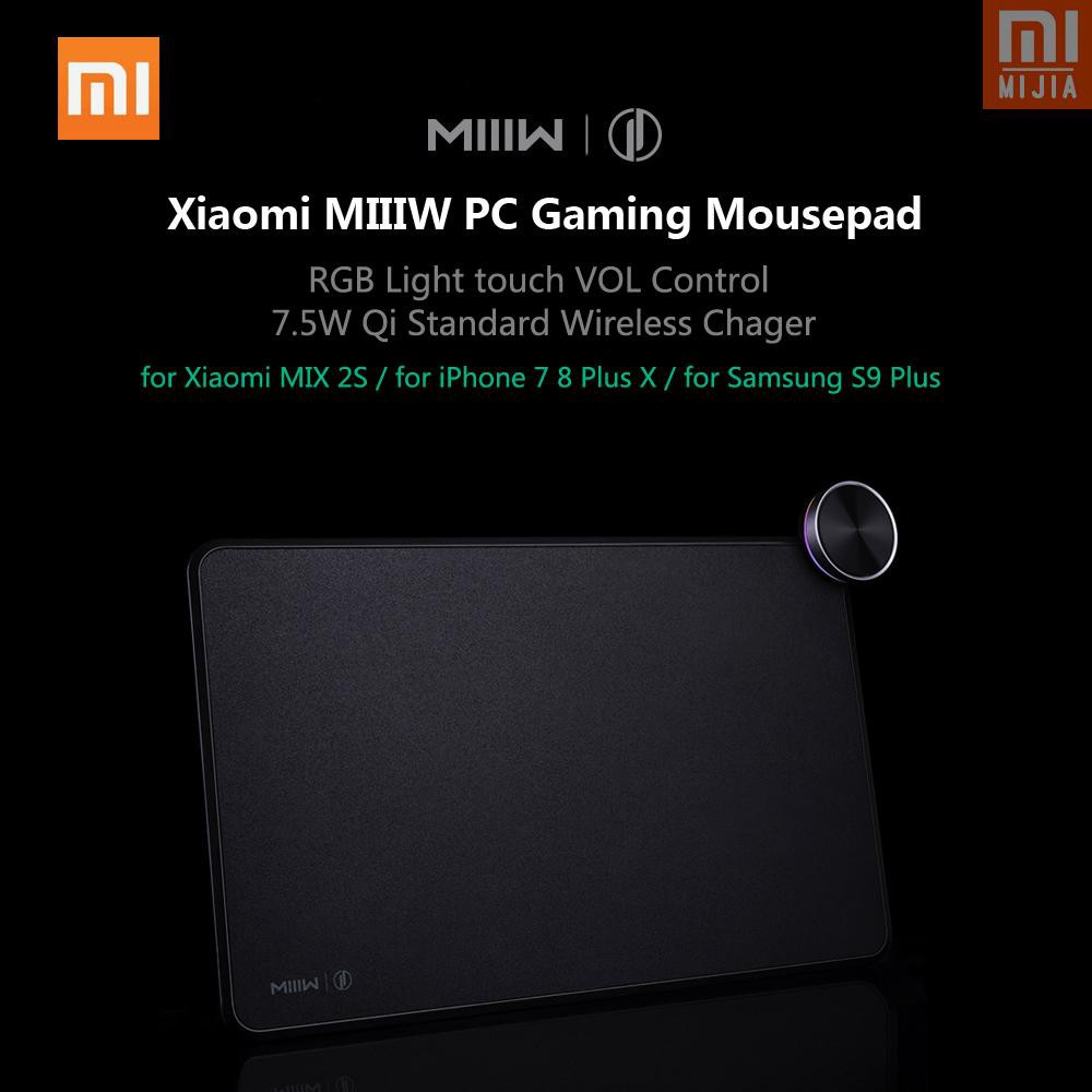 M&J mijia Xiaomi MIIIW PC Gaming Mousepad 7.5W Qi Standard Wireless Charger Charging Pad for Xiaomi