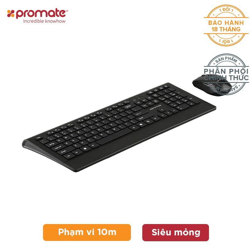 Combo Chuột & Bàn phím không dây Promate ProCombo-4 Slim Full-Size Multimedia (Đen) - 3122968 , 1027892862 , 322_1027892862 , 450000 , Combo-Chuot-Ban-phim-khong-day-Promate-ProCombo-4-Slim-Full-Size-Multimedia-Den-322_1027892862 , shopee.vn , Combo Chuột & Bàn phím không dây Promate ProCombo-4 Slim Full-Size Multimedia (Đen)