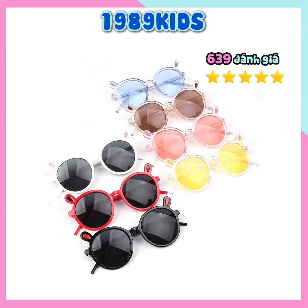 Kính cho bé trai bé gái gọng tròn chống tia uv mắt kính trẻ em thời trang chống bụi KB03
