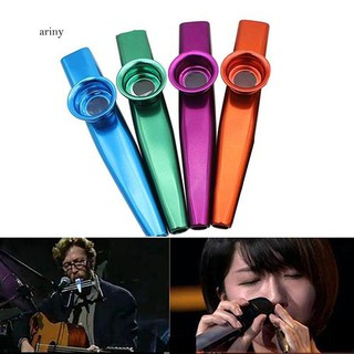 ♞Kids Aluminum Alloy Kazoo with 5Pcs Flute Diaphragm Music Lovers Toy Xmas Gift