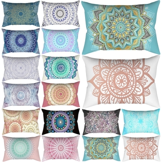 Indian Mandala Pattern Pillow Cases Rectangle Bedroom Cushion Cover Polyester Cotton Line Travel Pillow Cover 50*30cm