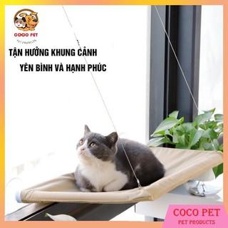 Giường Võng Treo Gắn Cửa Sổ Cho Mèo Nằm Chơi Và Thư Giãn thumbnail