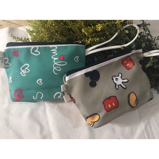 Túi ví vải canvas in hoạ tiết đựng điện thoại, mỹ phẩm thumbnail