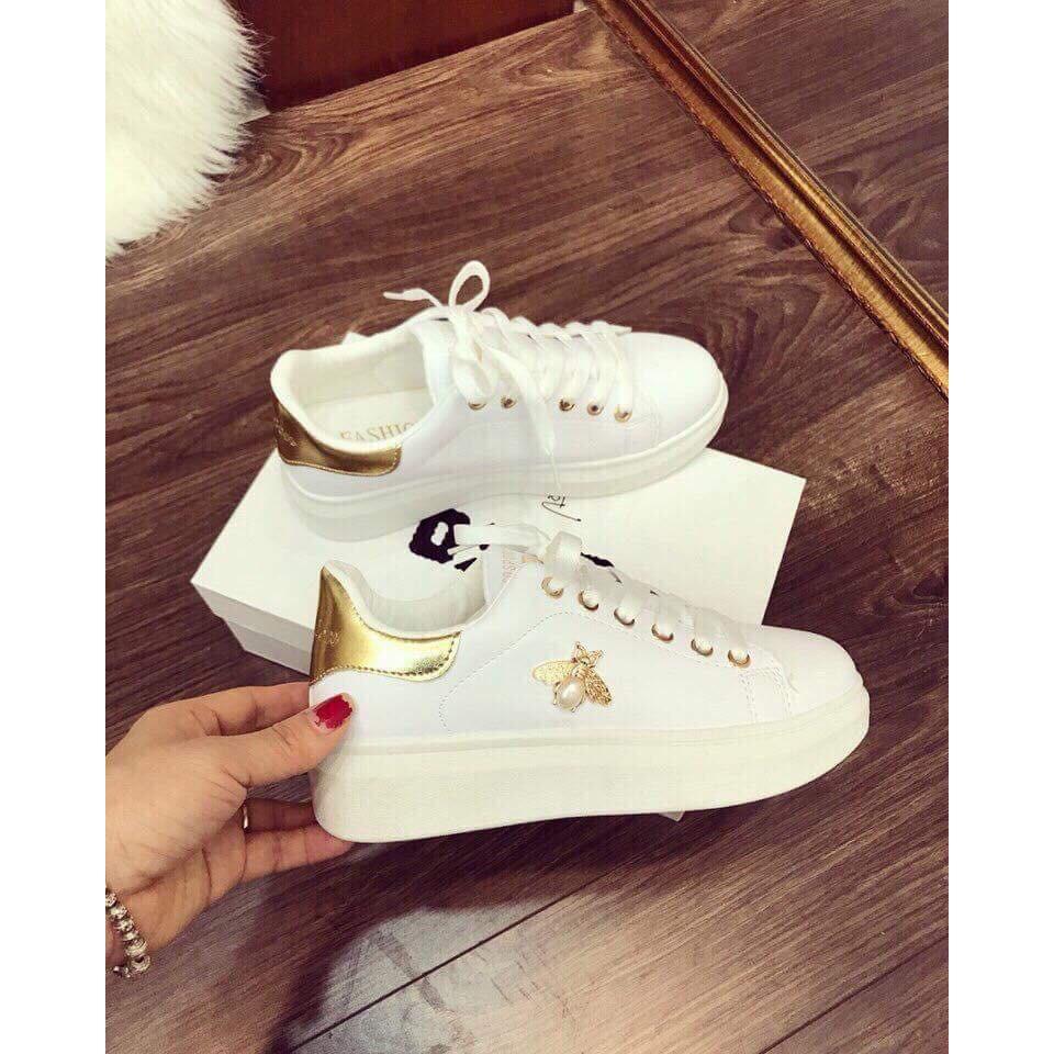 Giày thể thao Sneakers con ong đế vàng sang chảnh