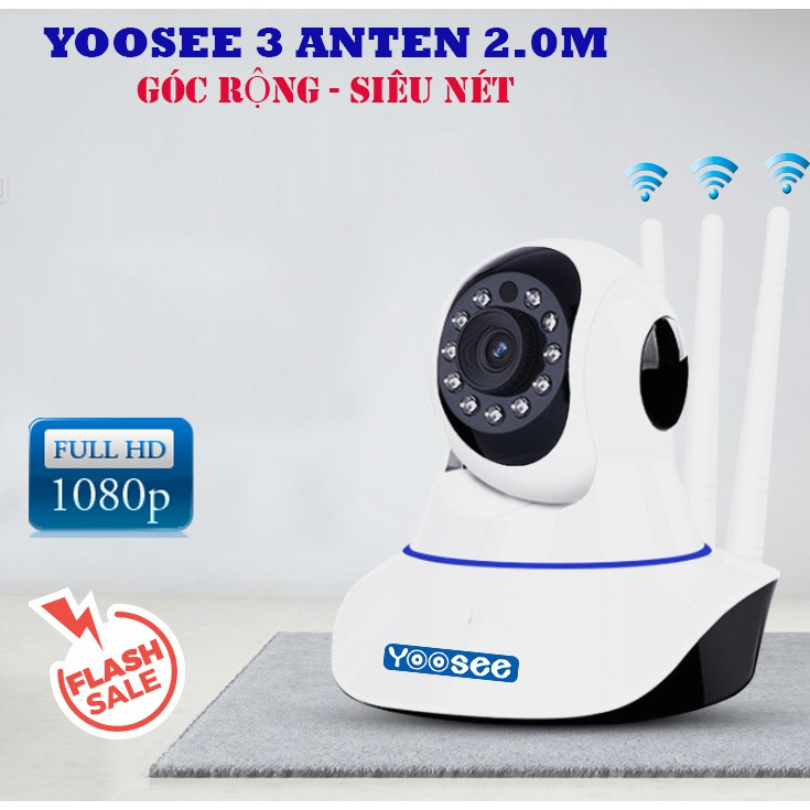 Camera ip Yoosee 3 râu Full HD 1080P - 2.0Mpx | Shopee Việt Nam