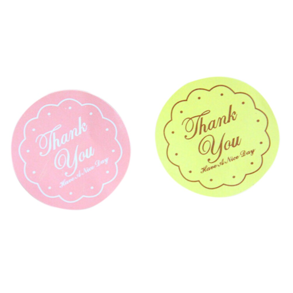 48pcs Thank You Oval Seal Labels