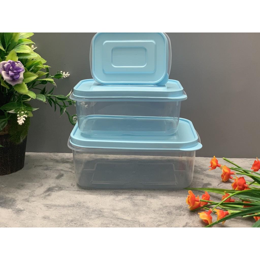 -xả hàng 9k- Bộ 3 hộp nhựa đựng thực phẩm PEPPi