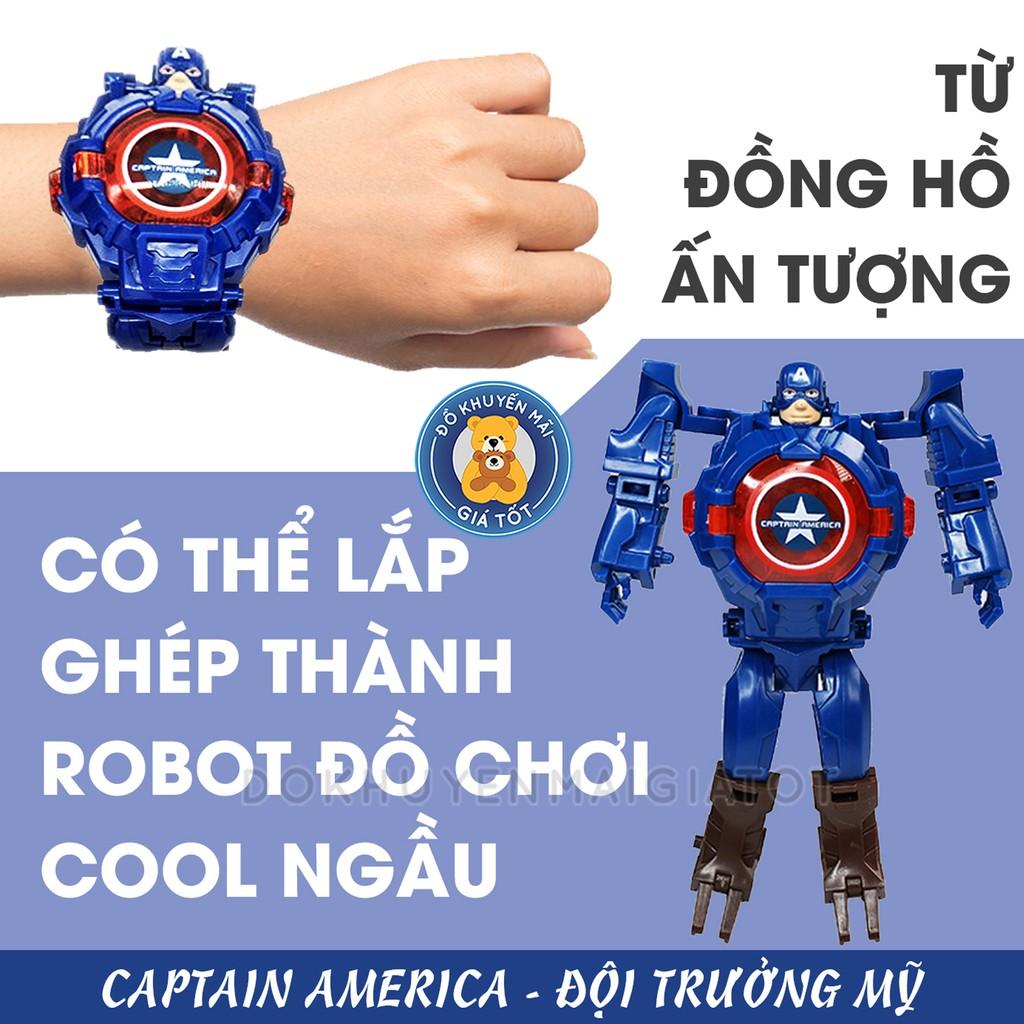 Đồ chơi đồng hồ đeo tay biến hình robot siêu anh hùng cá tính cho bé ZL8525 - [Có video] - Đồ khuyến mãi giá tốt