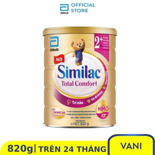 [Mã MKBC217 giảm 80K đơn 1tr] (Mẫu mới) Sữa bột Similac Total Comfort 2+ (HMO) 820g