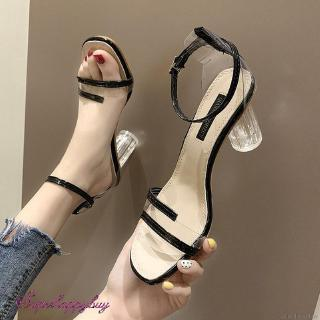 Giày Cao Gót Nữ Quai Trong Suốt