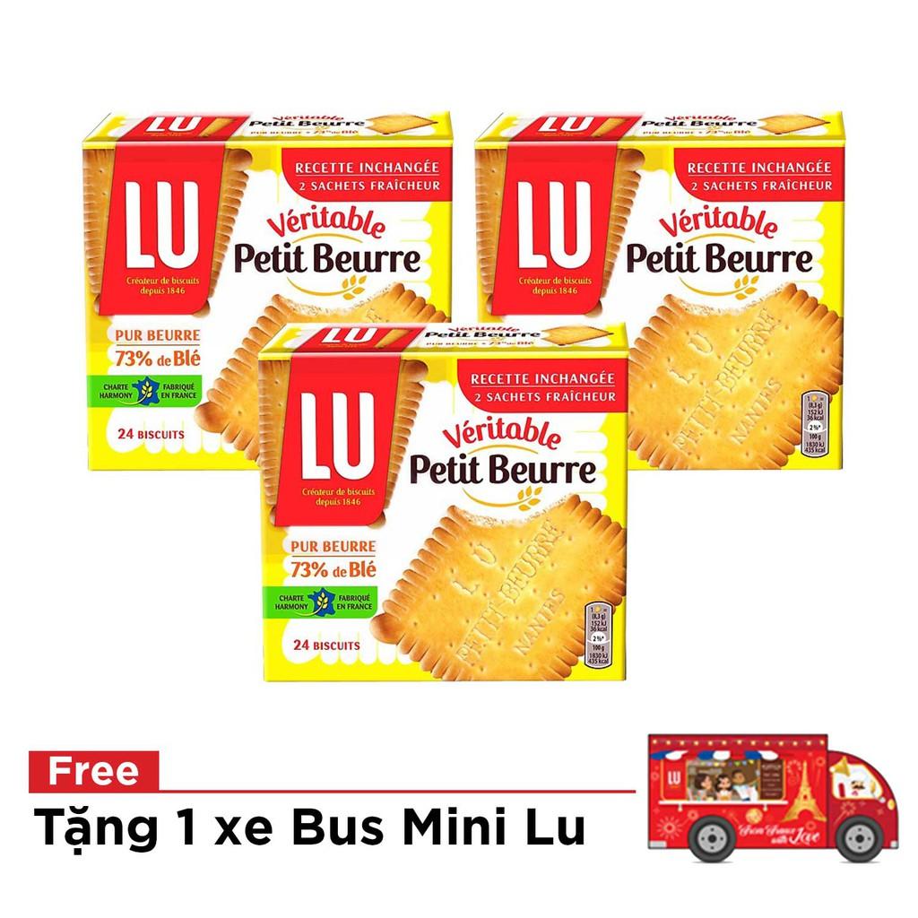 -[Tặng 1 bus tin] Combo 3 bịch bánh Lu Veritable Petit Beurre 200g