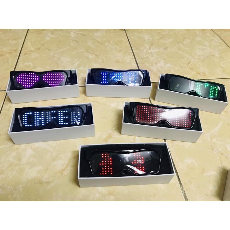 ☋✸Kính Wowy Chạy Chữ - Kính Đèn LED Bluetooth Kết Nối Điện Thoại