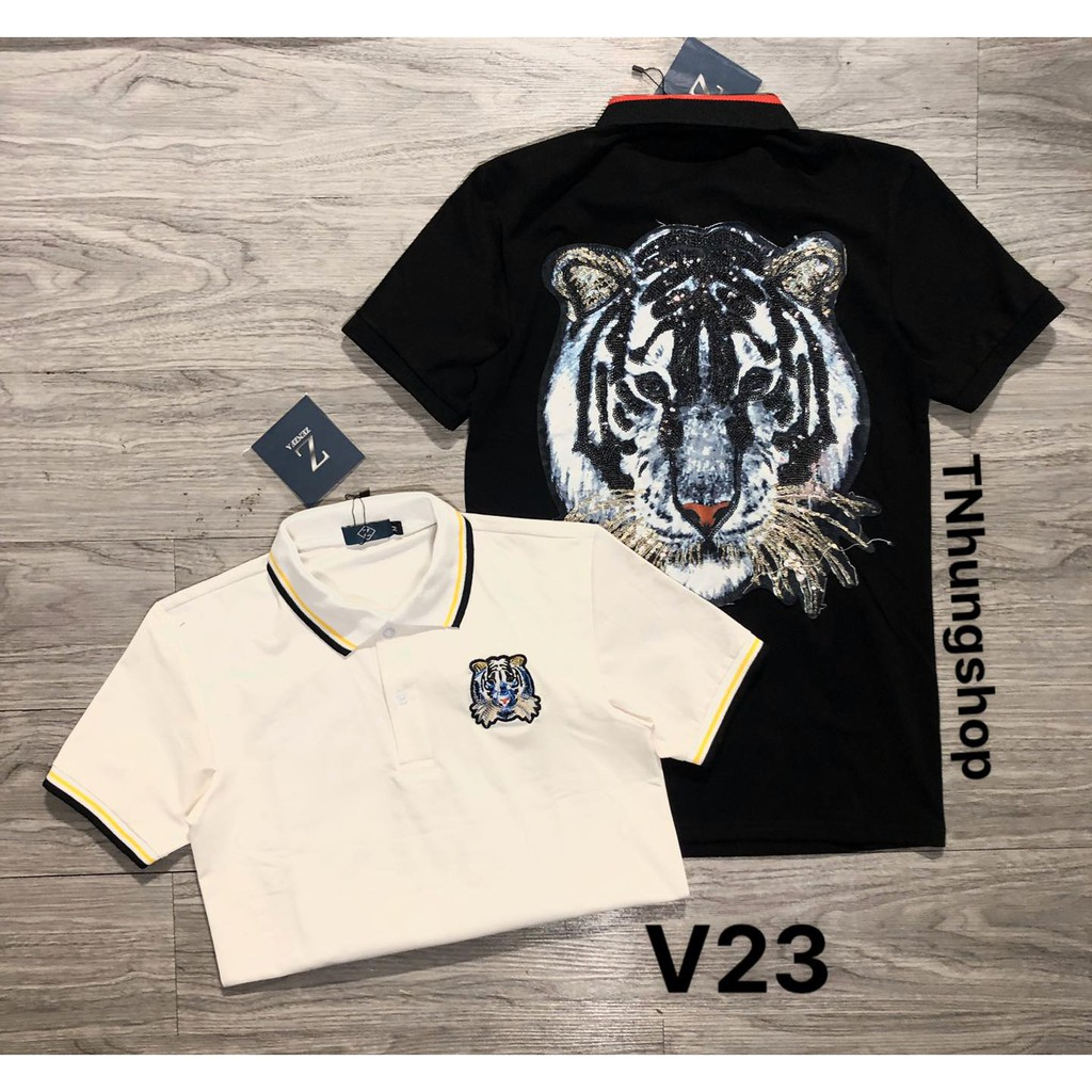 Sỉ áo thun áo phông nam polo ngắn tay có cổ giảm giá Thun Nam mã V23