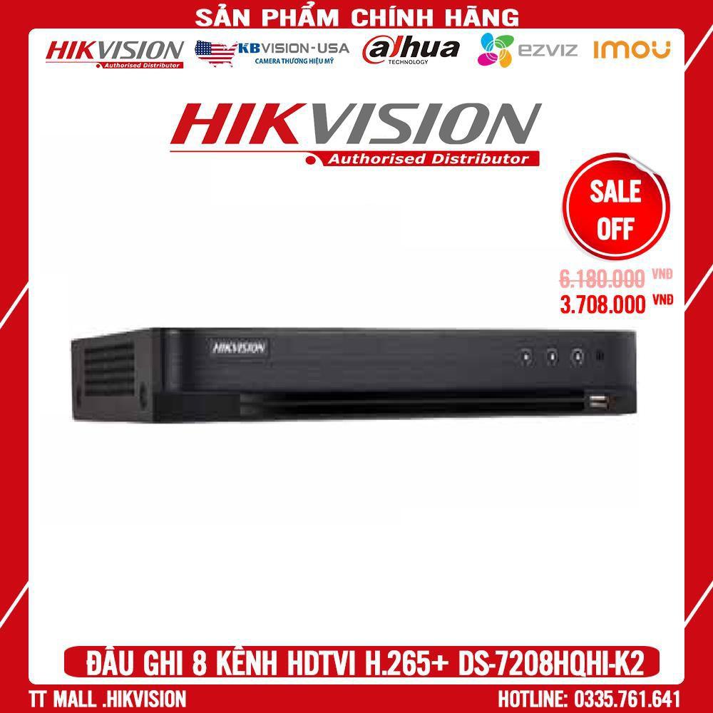 . Đầu ghi hình HD-TVI 8 kênh TURBO 4.0 HIKVISION DS-7208HQHI-K2 MIỄN PHÍ TÊN MIỀN .