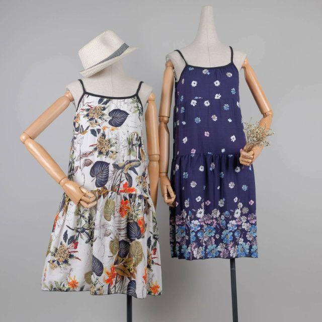 Váy hai dây Lanh hoa siêu mát