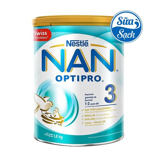 Sữa Bột Nestle NAN Optipro 3 1.8kg (Date 01/2021)