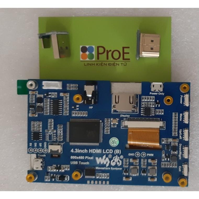 Màn hình cảm ứng điện dung 4.3inch HDMI LCD (B) 800x480, chính hãng Waveshare