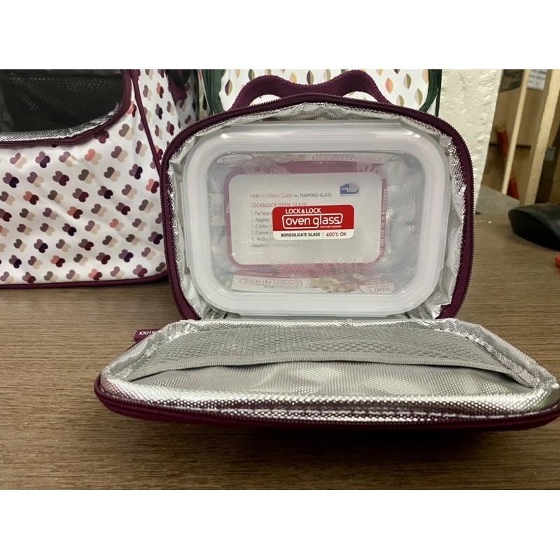 Túi giữ nhiệt Lock&Lock cho bộ hộp cơm hình chữ nhật LBF404 HPL753 đựng vừa 1 hoặc 3 hộp thủy tinh LLG429