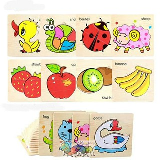 Ghép hình đơn giản khoảng 4-5 mảnh/miếng – Chủ đề hoa quả