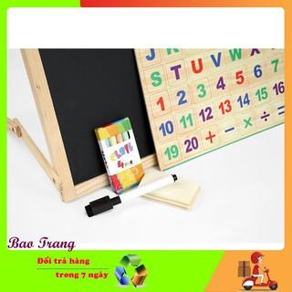 [KHUYẾN MẠI KHỦNG] Bảng 2 mặt kèm bộ chữ số bằng gỗ cho trẻ em