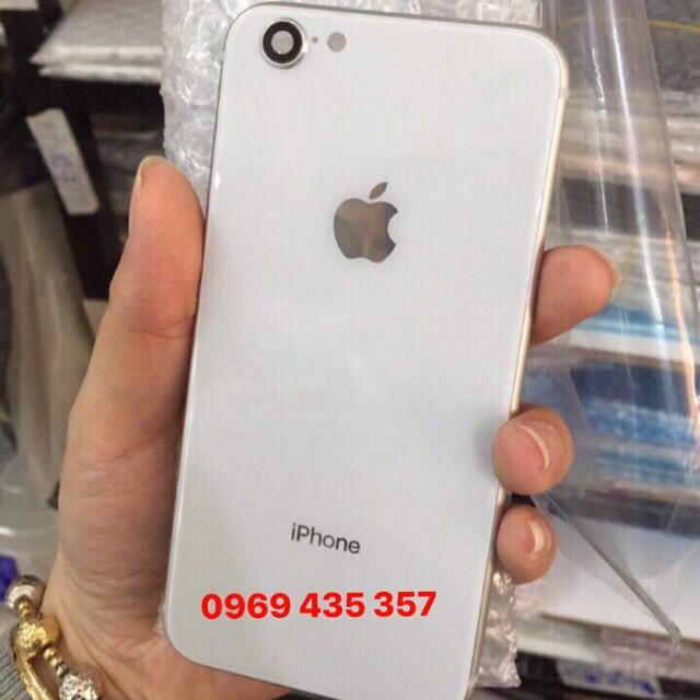 Vỏ độ Iphone 6/ 6s lên 8 màu trắng cực đẹp, kèm bộ nút