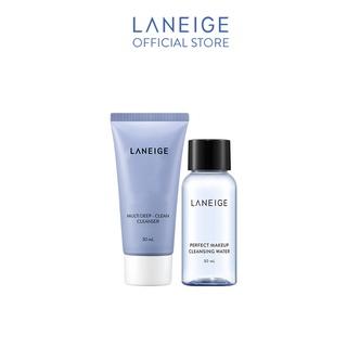 [HB Gift] Bộ Sữa rửa mặt làm sạch sâu đa chức năng Laneige Multi Deep Clean Cleanser 30Ml & Nước tẩy trang 30ml thumbnail