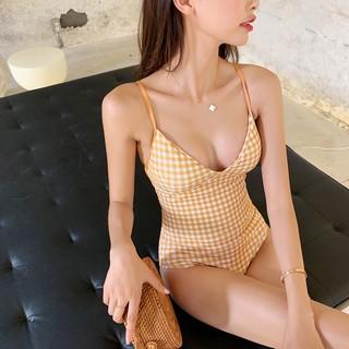 Hàng cao cấp- Bikini đi biển 1 mảnh 2 dây kẻ sọc trẻ trung chất đanh mịn