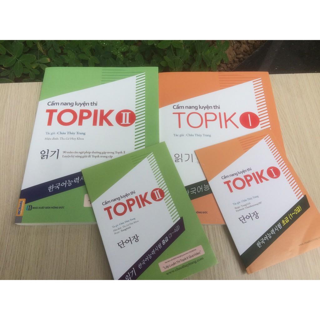 bộ Cẩm nang Luyện thi Topik I& II quà đặc biệt tặng kèm sổ tay Châu Thùy Trang 1 và 2