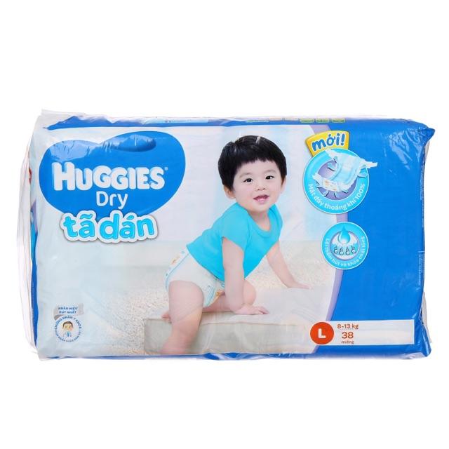 Tã-bỉm dán Huggies Dry Jumbo L38 (8 - 13kg)