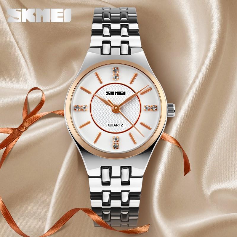 Đồng hồ nữ chống nước Skmei T20 kiểu dáng sang trọng dây thép không gỉ