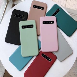 Ốp lưng silicon mềm bề mặt nhám màu trơn cho Samsung Galaxy Note 9 8 S10 Plus S10e thumbnail