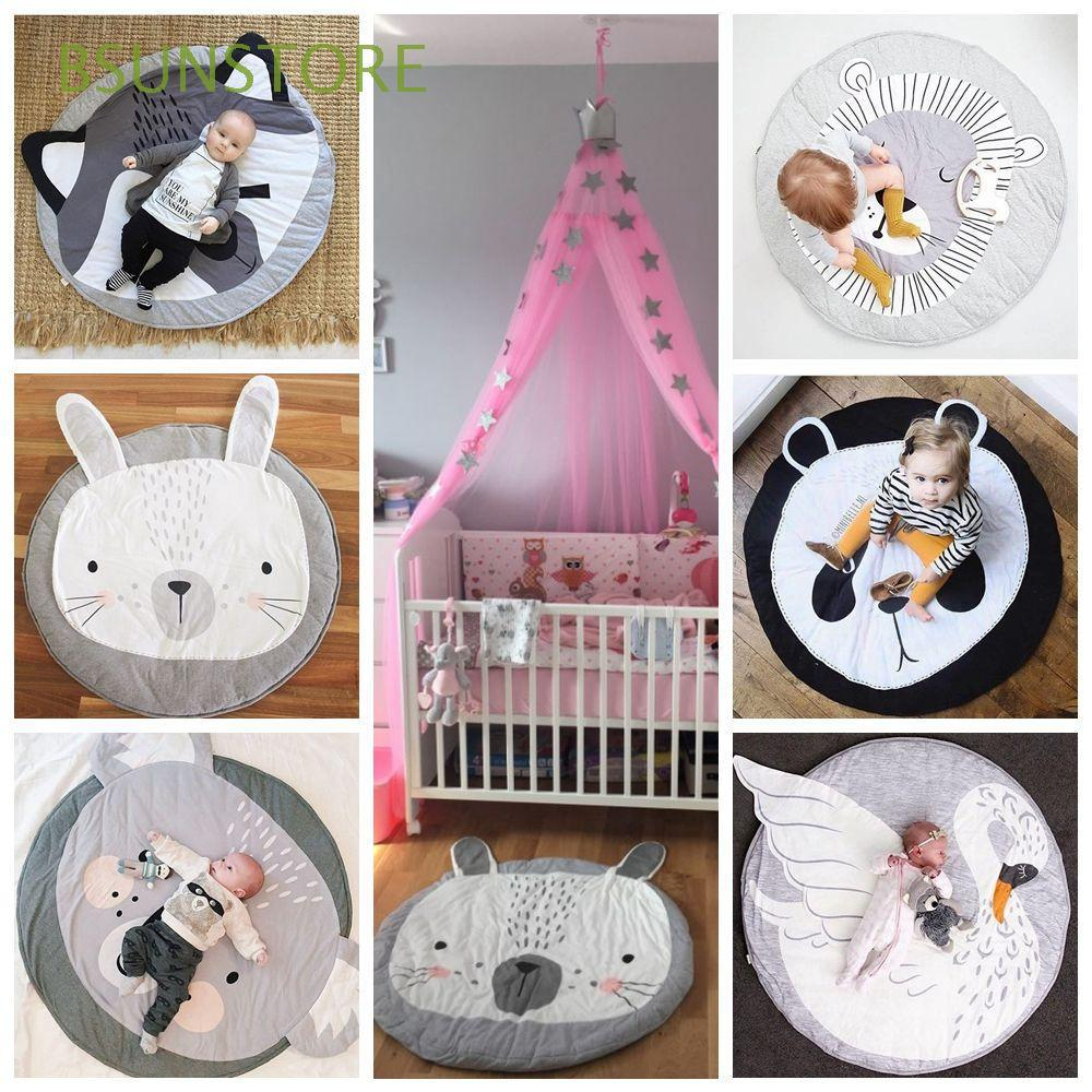 Sleeping Crawling Newborn Infant Round Carton Animal Baby Play Mats