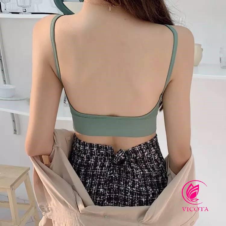 áo bra len tăm hở lưng khoét lưng dáng u siêu hot TANAMA BR01