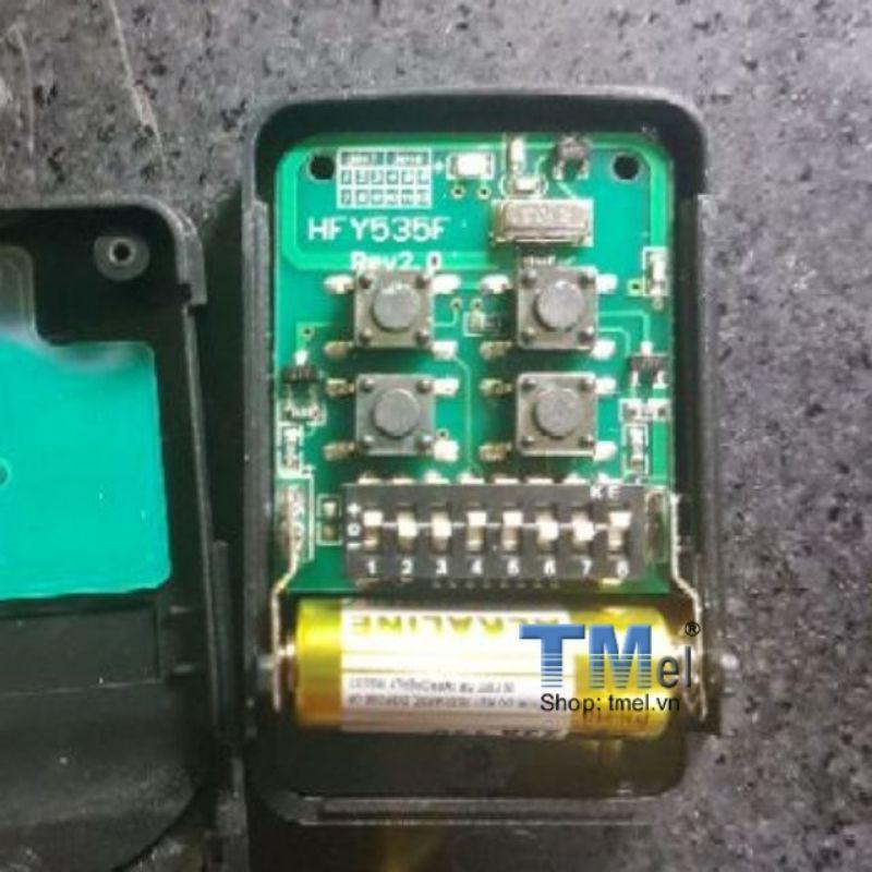 Remote điều khiển cửa cuốn mã gạt inox 433Mhz