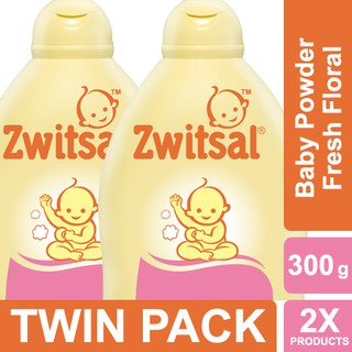 Zwitsal Baby Powder Classic Fresh Floral 300gr Twin Pack