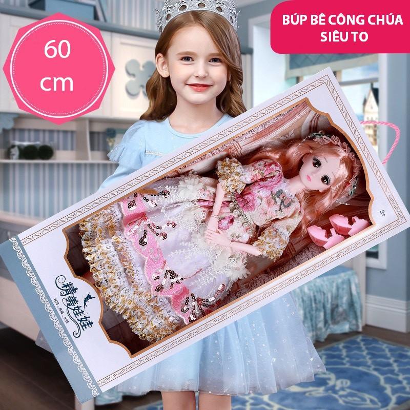 Đồ Chơi Búp Bê Barbie Cỡ Lớn Cao 60cm Phiên Bản Có Nhạc Tặng Kèm Phụ Kiện – Đồ Chơi Búp Bê Công Chúa Cho Trẻ Em