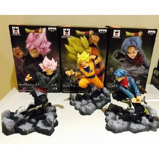 Mô hình Son Goku Super Saiyan + Future Trunks vs Black Goku Super Saiyan Rose cao 10cm
