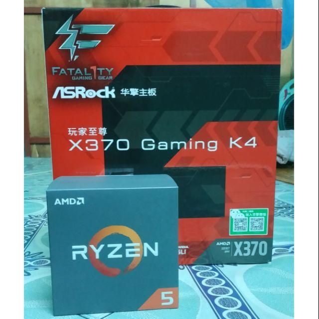 Combo Bộ Vi xử lý AMD Ryzen 5 Ryzen 7 + Main X370 Gaming K4