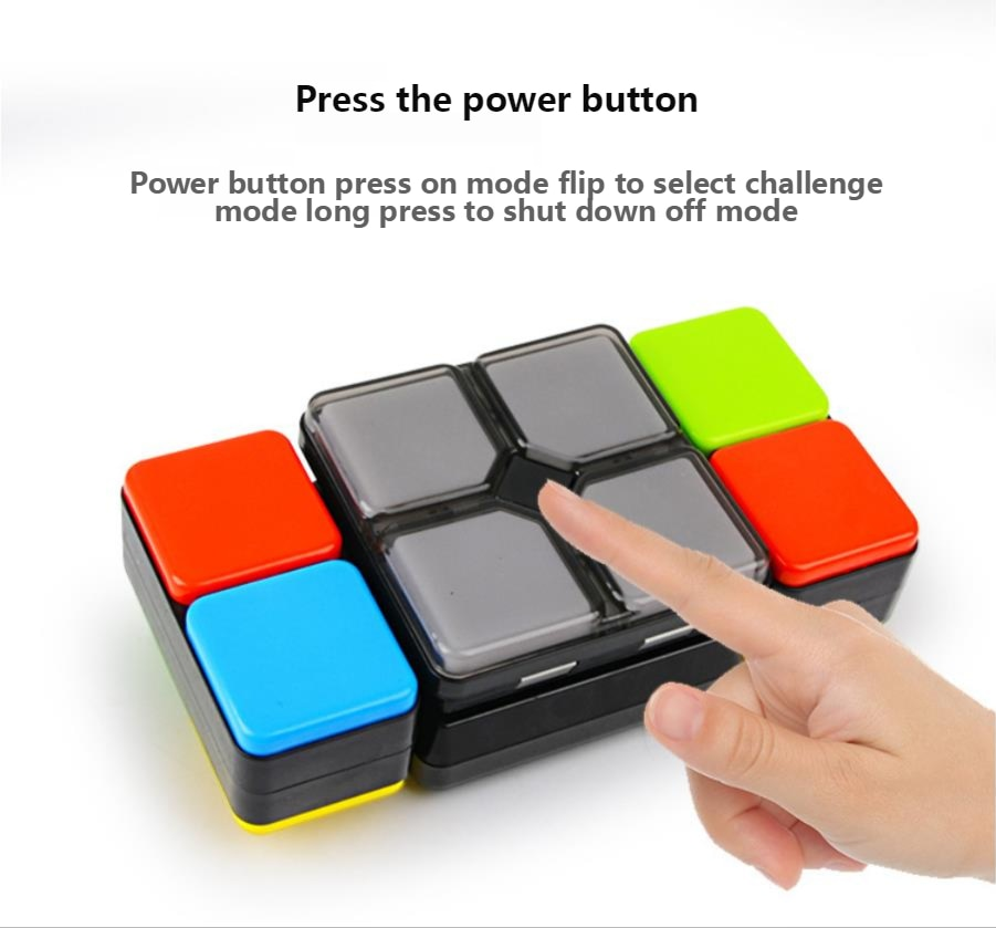 Khối Rubik Điện Tử Có Đèn Và Nhạc Cho Bé