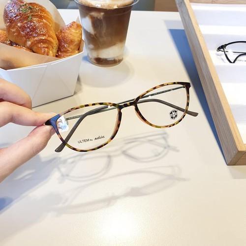 Gọng kính cận nam nữ cao câp Korea , Gọng mảnh Nhẹ - Đẹp thời trang chất liệu Ulteam Q2209
