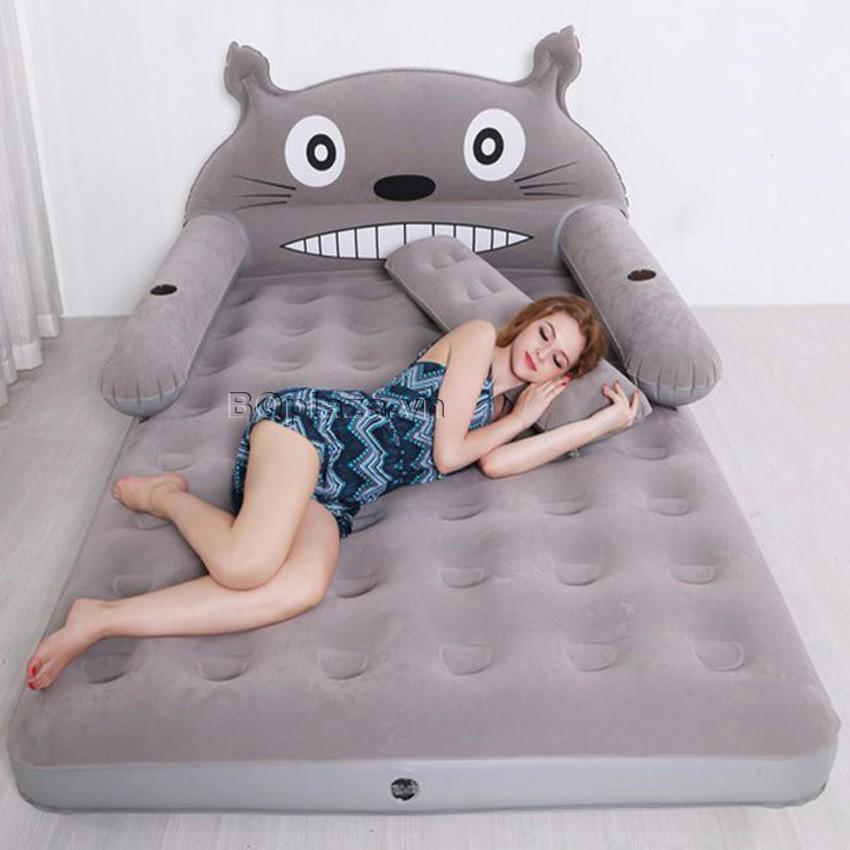 {{{GIẢM GIÁ SỐC }}}Bộ giường hơi cao cấp hình thú tặng kèm bơm điện