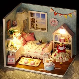 bộ lắp ráp nhà búp bê hình ngôi nhà nhỏ
